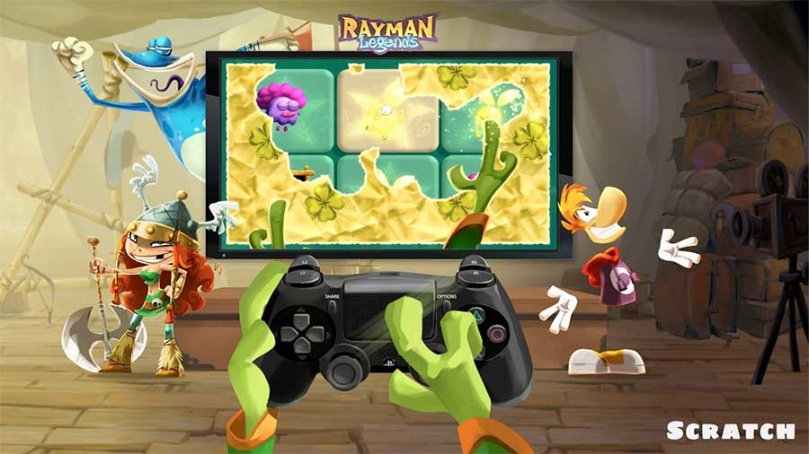 Rayman Legends PS4 Scratch