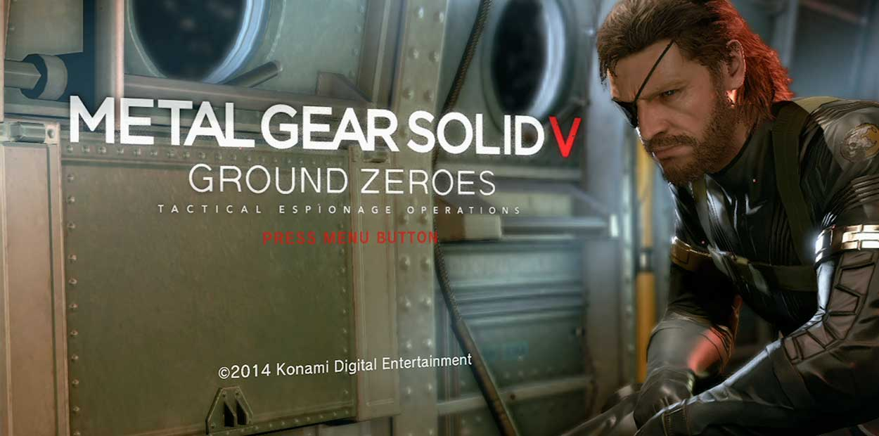 Test Xbox One Metal Gear Solid Ground Zeroes