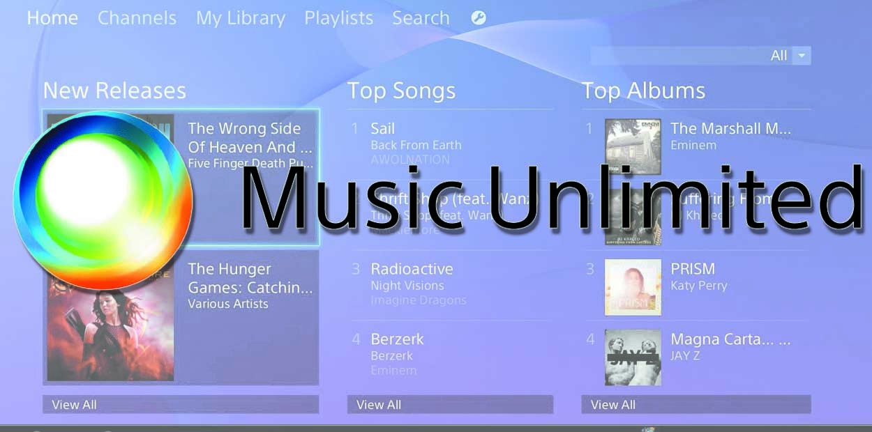 music unlimited sony ps4