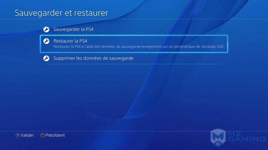 changer disque dur ps4 restaurer