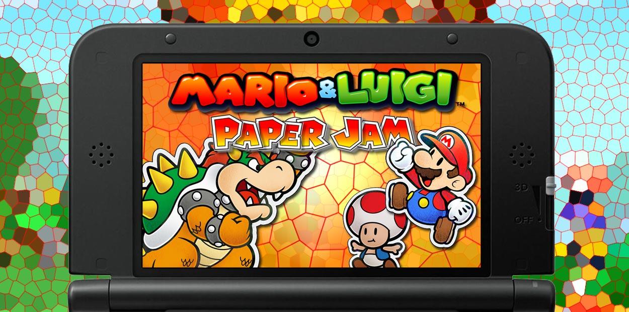 mario and luigi paper jam test 3ds
