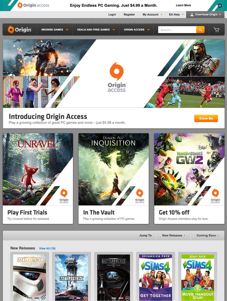 origin access ea pc