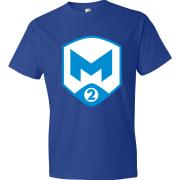 T-Shirt M2 Gaming Logo bleu