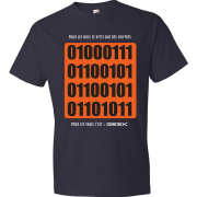 T-Shirt 01000111 - Nuls vs Gamer (bleu marin)