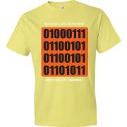T-Shirt 01000111 - Nuls vs Gamer (jaune)