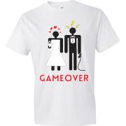 T-Shirt - Couple marié - Game Over (Blanc)