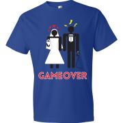 T-Shirt - Couple marié - Game Over (Bleu)