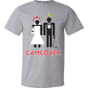 T-Shirt - Couple marié - Game Over (Gris)