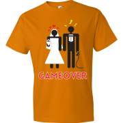 T-Shirt - Couple marié - Game Over (Orange)