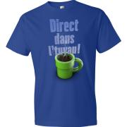 T-Shirt - Direct dans l'tuyau (Bleu)