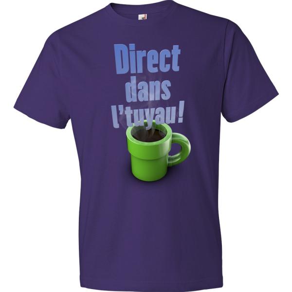 T-Shirt - Direct dans l'tuyau (Mauve)