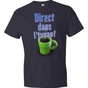 T-Shirt - Direct dans l'tuyau (Bleu Marin)
