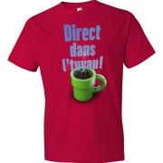 T-Shirt - Direct dans l'tuyau (Rouge)