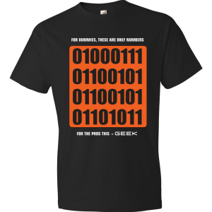 T-Shirt - Dummies vs Geek (Black)