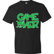 T-Shirt logo Skull Game Over (vert)
