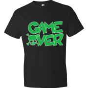 T-Shirt logo Skull Game Over (vert)