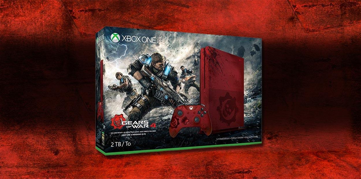 Xbox One S - Nouvel ensemble avec le jeu Gears of Wars 4