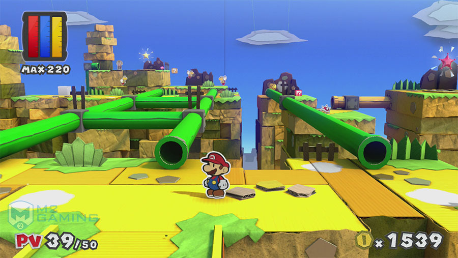 paper mario color splash test wii u