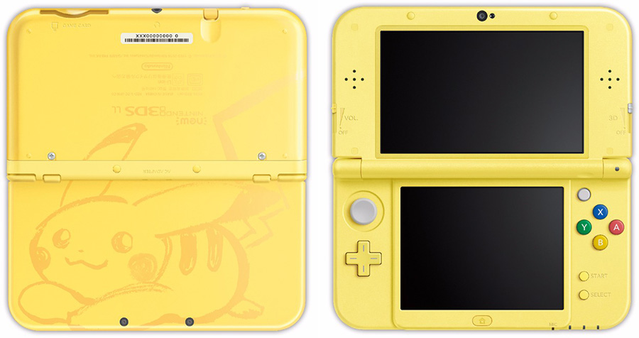 nouvelle new 3ds xl pikachu