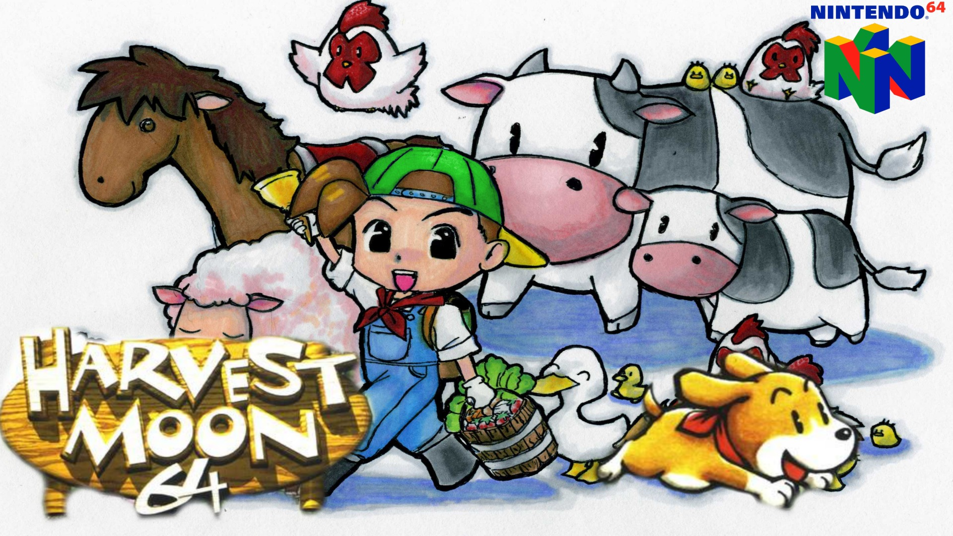 harvest moon 64 art