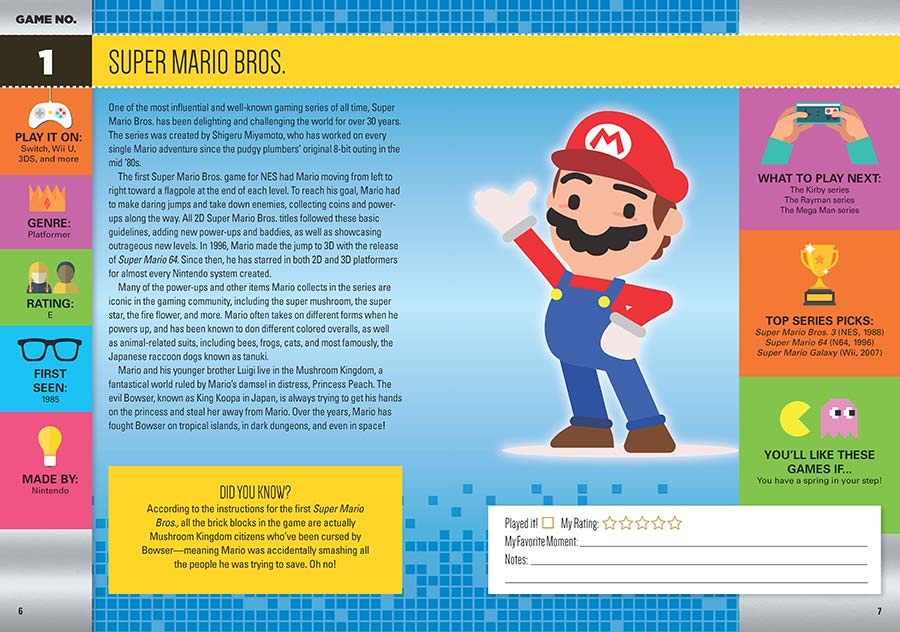 livre 101 video games to play before you grow up page mario