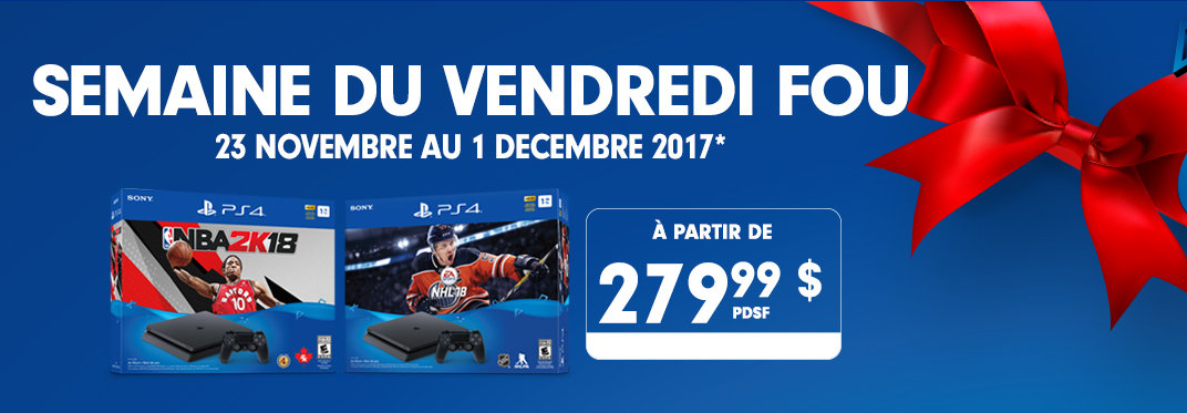 PlayStation Canada Black Friday 2017